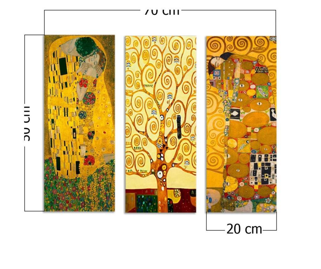 Zestaw 3 obrazów Odo 20x50 cm