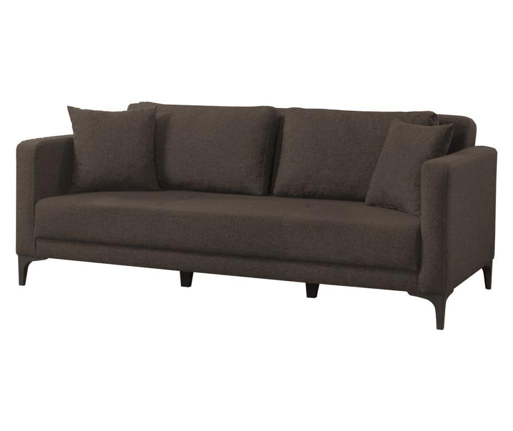 Gauge Concept Dark-Brown Kihúzható háromszemélyes kanapé