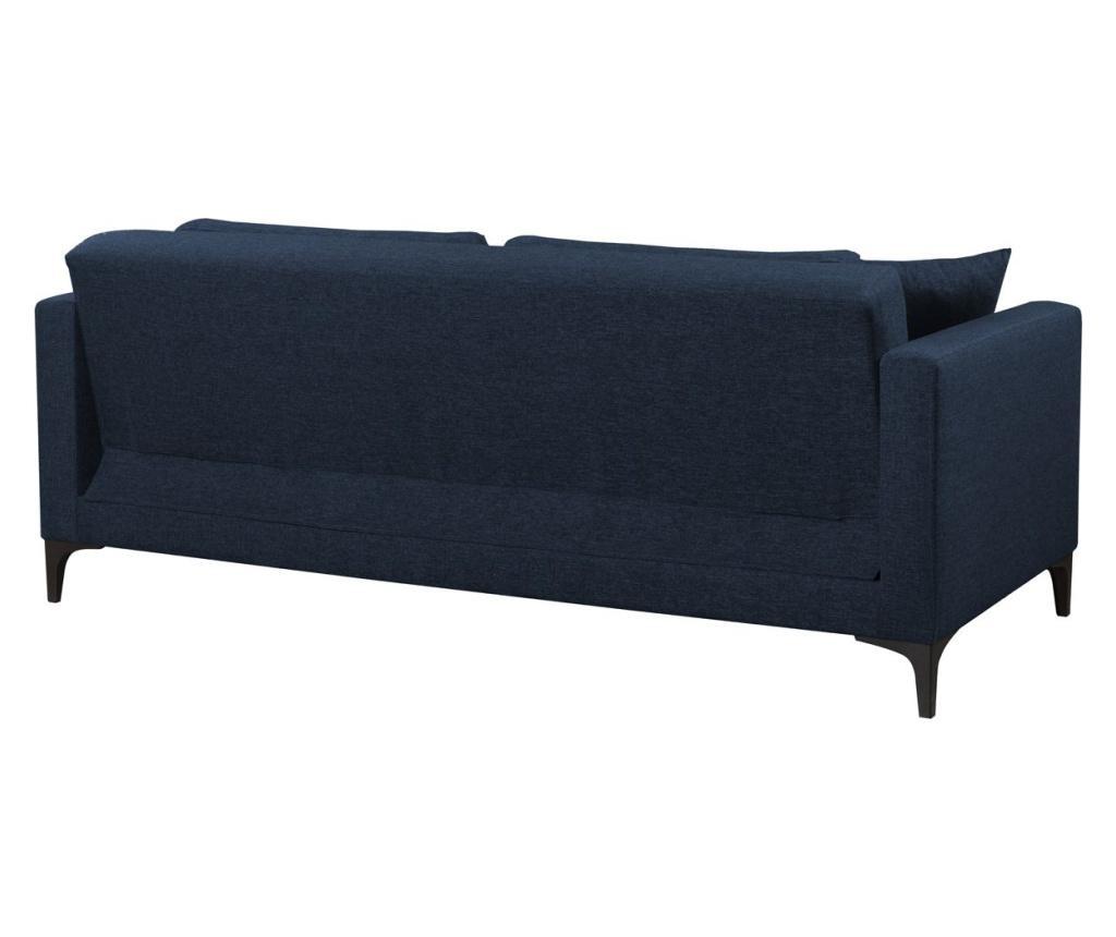 Gauge Concept Navy Blue Kihúzható háromszemélyes kanapé