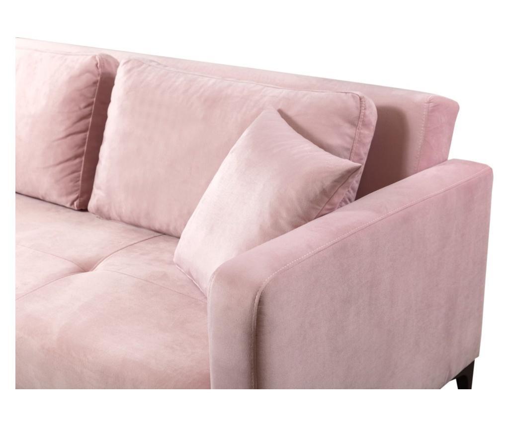 Canapea extensibila 3 locuri Velvet Pink